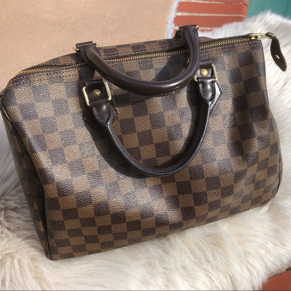 651414568697 Louis Vuitton Handbags - Auth Louis Vuitton Speedy 30 Damier Ebene